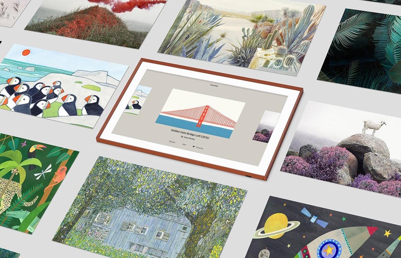 Αλλάξτε λειτουργία στη The Frame και αφήστε τα αγαπημένα σας έργα τέχνης να δημιουργήσουν ατμόσφαιρα.
