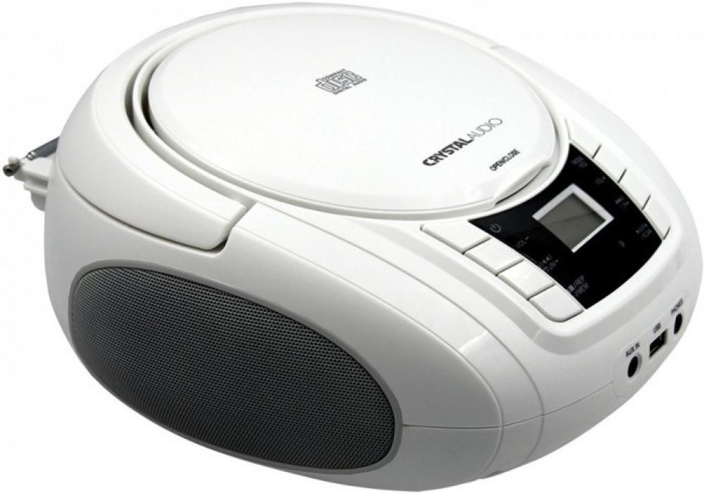 Portable Radio-CD Crystal Audio BMBU2W White
