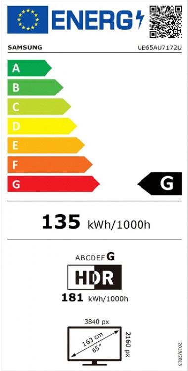 "TV Samsung LED UE65AU7172 65"" Smart 4K"