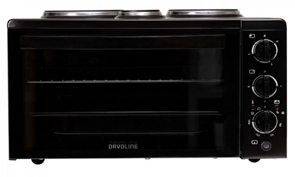 Κουζινάκι 3 εστ.Davoline 4506 STAR (Μεγ.Μεσ.Μικρ.) Μαύρο