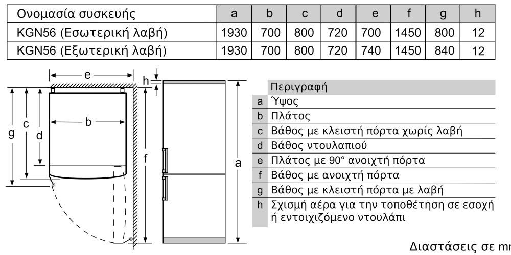 Ψυγειοκαταψύκτης Pitsos 190x70(Βαθύ) PKNB56VWEP