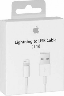 Cable Apple Lightining-USB 1m MD818ZM/A Retail)