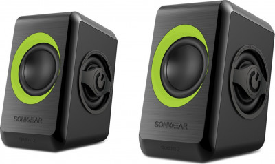 Speakers Sonicgears 2.0 Green Quad Bass