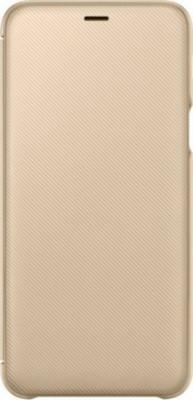 Θήκη Flip Samsung A6+ A605 Wallet Cover EF-WA605CFEGWW Gold Original