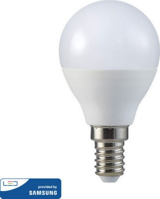 Lamp Led V-TAC Samsung E14 Σφαιρικός 5.5W VT-236 4000K