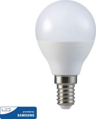 Lamp Led V-TAC Samsung E14 Σφαιρικός 5.5W VT-236 3000K