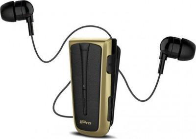 Headset Bluetooth iPro RH219s Retractable Black-Gold