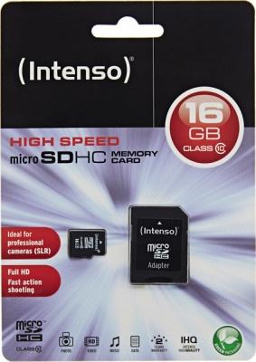 Κάρτα Μνήμης Intenso Micro SDHC 16GB C10