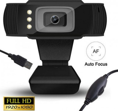 Webcam Lamtech Full HD 1080P With Led