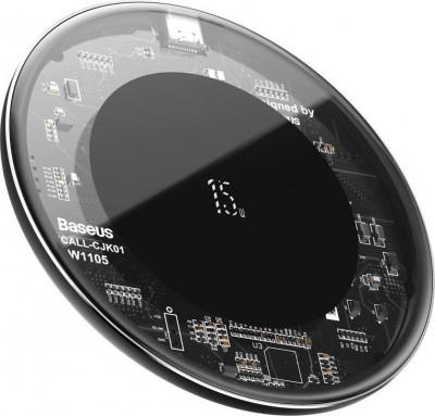 Φορτιστής Wireless Baseus Simple 15W WXJK-BA02 Transparent