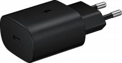Φορτιστής Ταξιδίου Samsung Fast Charging Type C 25W EP-TA800NBEGEUC Black