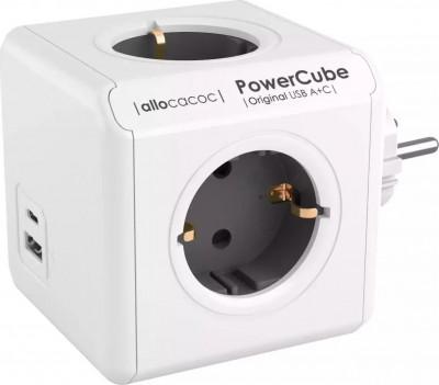 Πολύπριζο Allocacoc Powercube 10432GY Original 4 Θέσεων + USB-A + USB-C