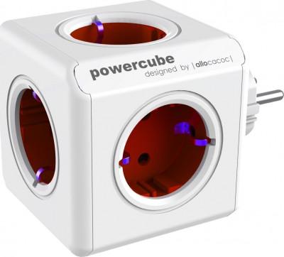 Πολύπριζο Allocacoc Powercube 1100RD Original 5 Θέσεων Kόκκινο