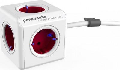 Πολύπριζο Allocacoc Powercube 1300RD Extended 1.5m 5 Θέσεων Kόκκινο