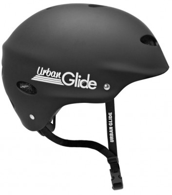 Helmet Urbanglide Black with White Letters Large