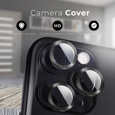 Camera Lenses Protector Glass Mr.Monkey for Apple iPhone 13 Pro/13 Pro Max 5D Armor Black