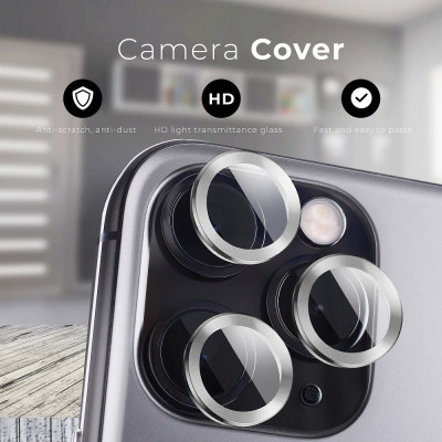 Camera Lenses Protector Glass Mr.Monkey for Apple iPhone 13 Pro/13 Pro Max 5D Armor Silver