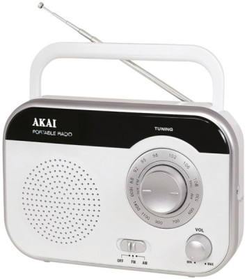 Radio Analog Akai PR003A-410W White