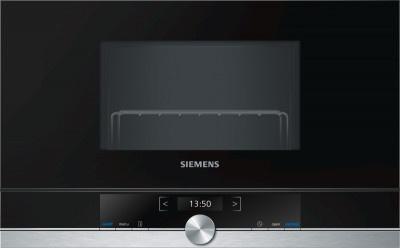 Φούρνος Μικροκυμάτων Εντοιχιζόμενος με Grill Siemens 21Lt  BE634LGS1 Inox-Black