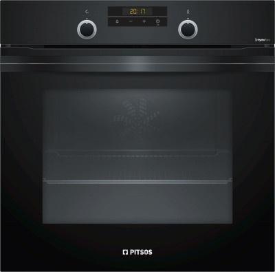 Φούρνος Εντοιχιζόμενος Pitsos PH33M42B0 Μαύρος