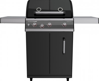Gas Barbecue OutdoorChef DUALCHEF 325 G Black with Hob