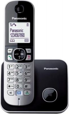 Τηλέφωνο Ασύρματο Panasonic KX-TG6811GRΒ Μαύρο