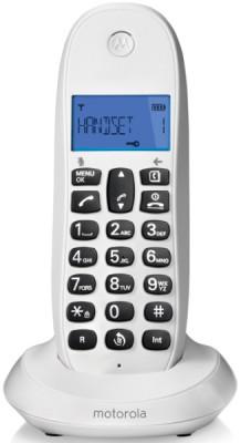 Τηλέφωνο Ασύρματο Motorola C1001LB Dect Λευκό