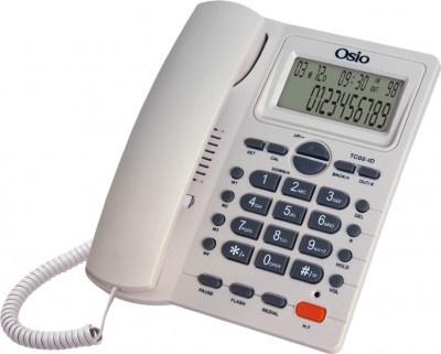 Τηλέφωνο Ενσύρματο Osio OSW-4710W με Οθόνη Λευκό