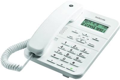 Τηλέφωνο Ενσύρματο Motorola CT202 Λευκό