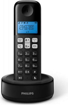 Τηλέφωνο Ασύρματο Philips D1611B/GRS Μαύρο