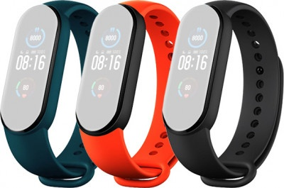 Strap Xiaomi Mi Smart Band 5 3-Pack (BLK-OR-CY)