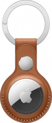 Airtag Leather Key Ring Apple MX4M2ZM/A Saddle Brown