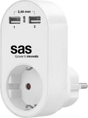 Wall Charger/Adaptor SAS 100-15-130 White