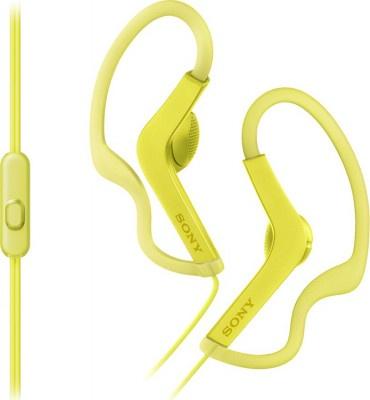 Ακουστικά Handsfree Sony MDRAS210APY Active Sereies Sports Κίτρινο