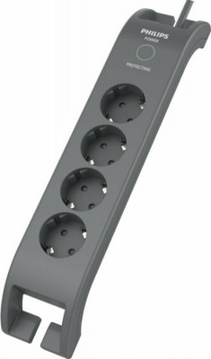Safety power strip Philips SPN3140A/10 Black