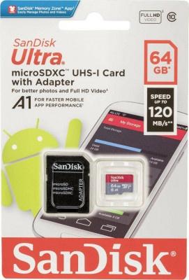 Κάρτα Μνήμης Sandisk Micro SDHC Ultra 64GB