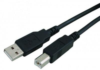 Καλώδιο εκτυπωτή Powertech USB 2.0 A/B Bulk 1.5M Black