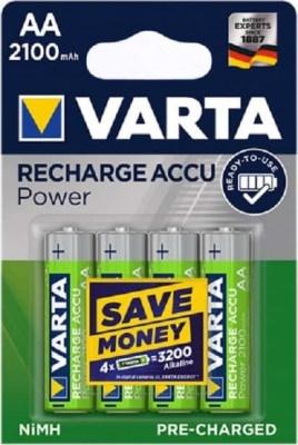 Batteries Rechargeable Varta Ready to Use ΑΑ 2100mah (4 pcs)
