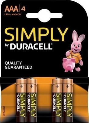 Μπαταρίες Duracell Simply ΑΑΑ Αλκαλικές (4 τεμ.)