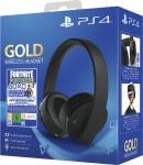 Headset Wireless Sony PS4 Gold/Black & Fortnite VCH